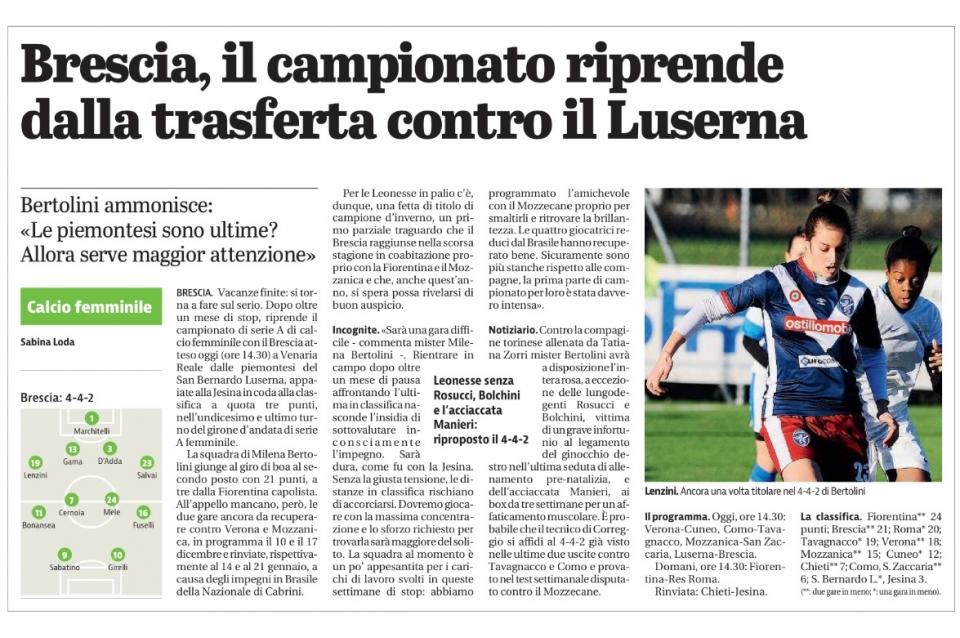 Giornale di Brescia – 07/01/2017
