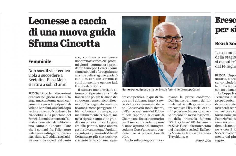 Giornale di Brescia – 19/06/2017