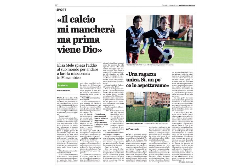 Giornale di Brescia – 25/06/2017
