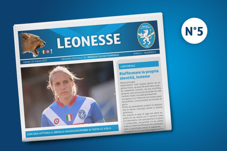 E' uscito il quinto numero di Leonesse – mar. 2017
