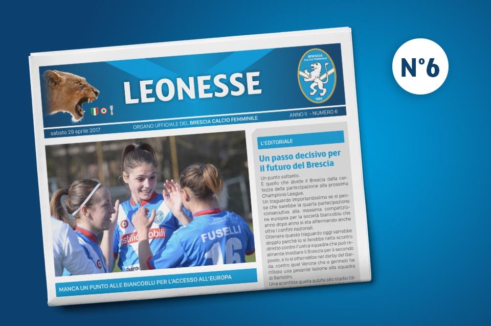 Non perdere il sesto numero di Leonesse – mar. 2017