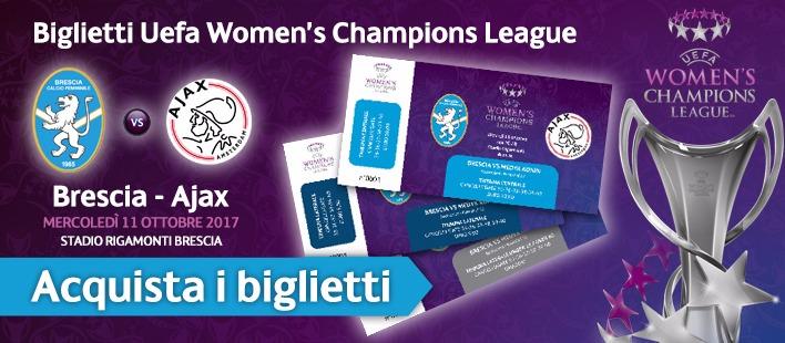 Brescia-Ajax, biglietti acquistabili sul sito e alle biglietterie