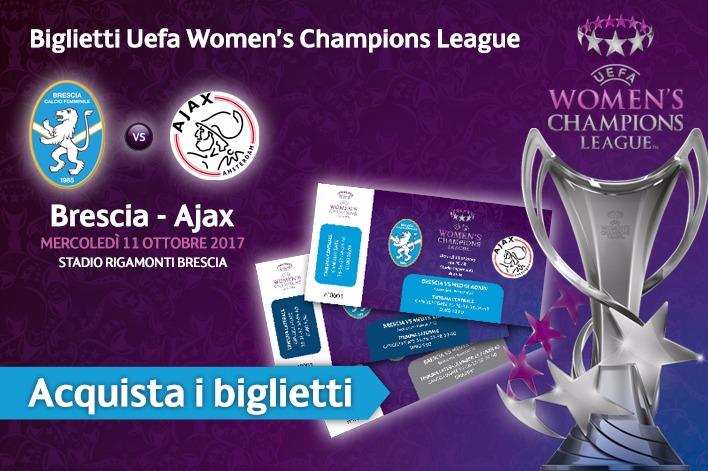 Brescia CF-Ajax, i biglietti acquistabili al Club Azzurri contro il Sassuolo