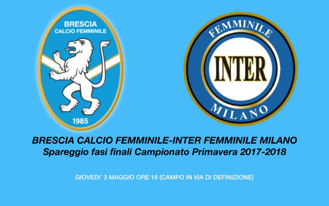 Brescia CF-Inter Femminile, sarà spareggio!