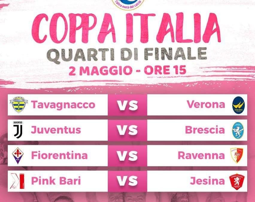 Quarti Coppa Italia, a Torino contro la Juve mercoledì 2 maggio