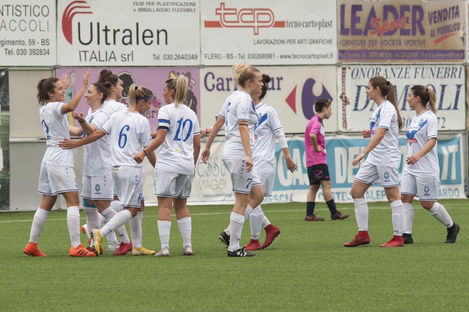 Sette gol anche al Tabiago: il Brescia ora è secondo