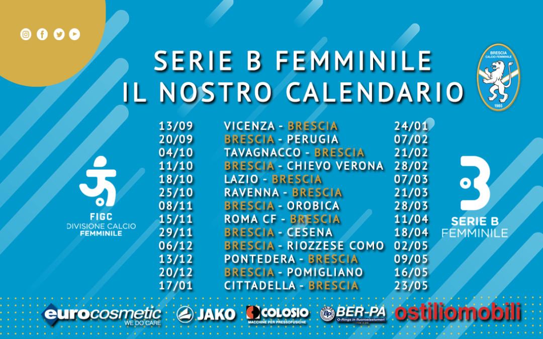 Serie B femminile 2020/2021: ecco il calendario