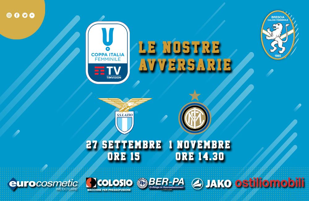 Coppa Italia Timvision: Inter e Lazio per il Brescia