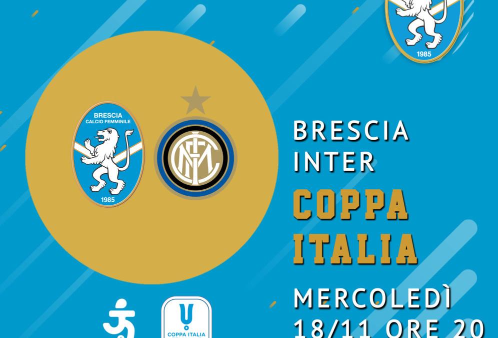 Coppa Italia Timvision: Brescia-Inter il 18 novembre