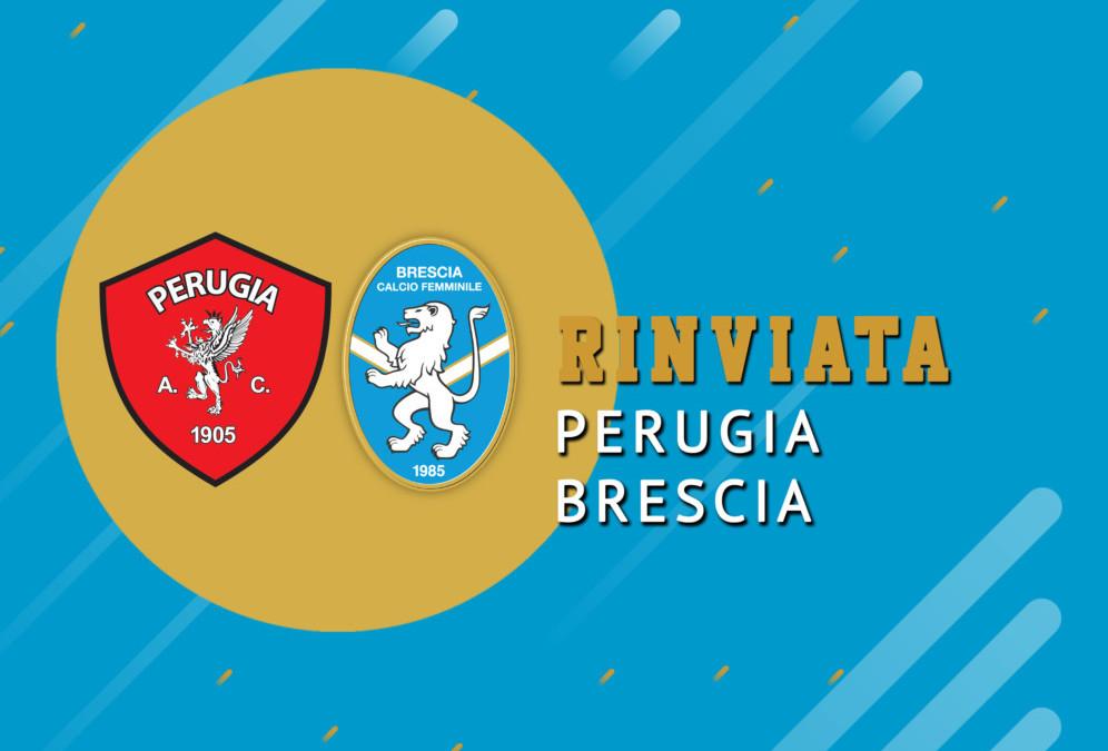 Perugia-Brescia rinviata a data da destinarsi