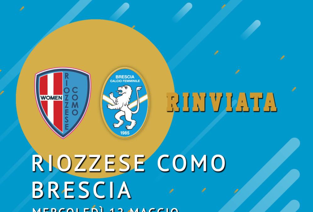 Riozzese Como-Brescia rinviata al 12 maggio