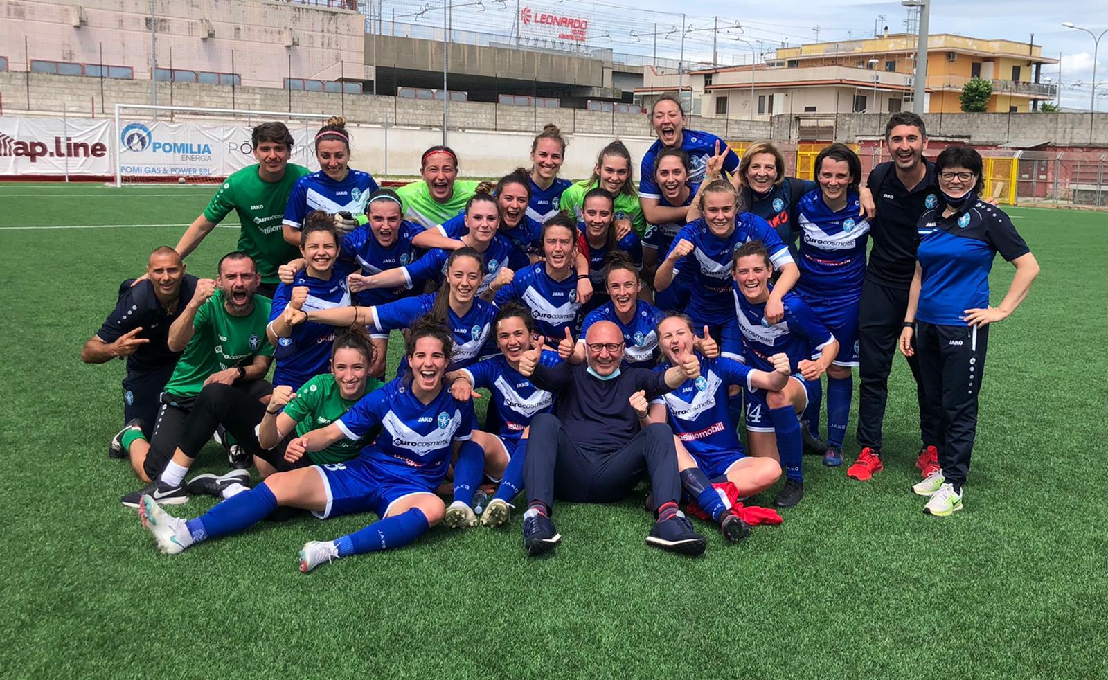 Brescia, è salvezza! 2-1 al Pomigliano